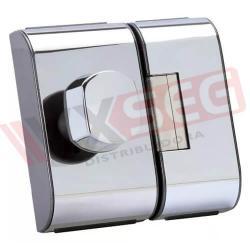 Fechadura Elétrica Hdl Porta De Vidro Pv90 2r-b Inox Recorte